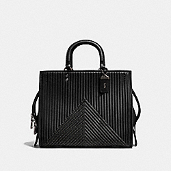 ROGUE WITH QUILTING AND RIVETS - BP/BLACK - COACH F22809