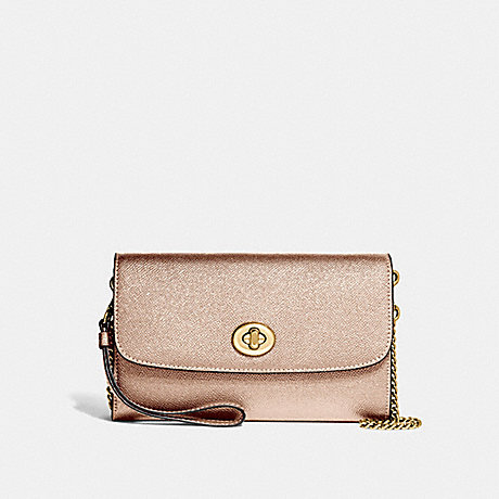 COACH CHAIN CROSSBODY - ROSE GOLD/LIGHT GOLD - F22828