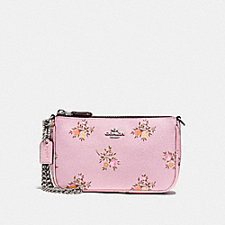 NOLITA WRISTLET 19 WITH CROSS STITCH FLORAL PRINT - LILY CROSS STITCH FLORAL/SILVER - COACH F22834