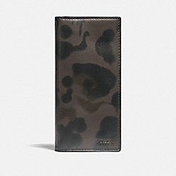 BREAST POCKET WALLET WITH WILD BEAST PRINT - CHARCOAL - COACH F22845