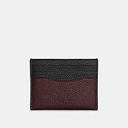 CARD CASE - OXBLOOD/BLACK - COACH F22846