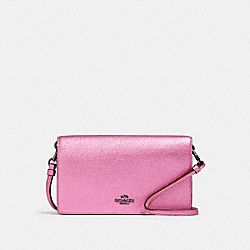 HAYDEN FOLDOVER CROSSBODY CLUTCH - DK/METALLIC ROSE - COACH F22851