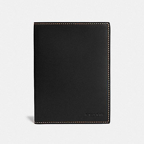 COACH PASSPORT CASE - BLACK - F22875