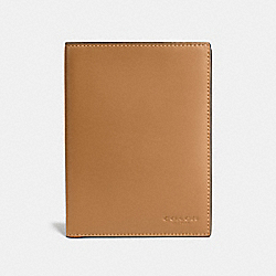 PASSPORT CASE - LIGHT SADDLE - COACH F22875
