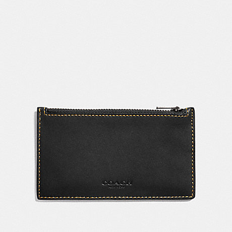 COACH ZIP CARD CASE - BLACK - F22879
