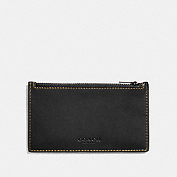 ZIP CARD CASE - BLACK - COACH F22879