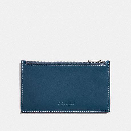 COACH ZIP CARD CASE - DENIM - F22879