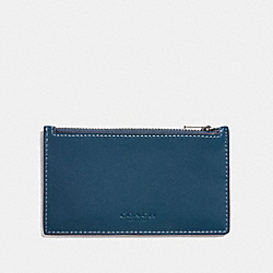 ZIP CARD CASE - DENIM - COACH F22879