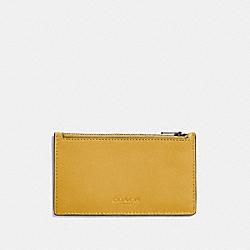 ZIP CARD CASE - FLAX - COACH F22879