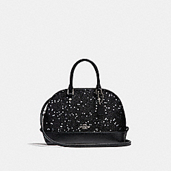 COACH MICRO MINI SIERRA SATCHEL WITH STAR GLITTER - SILVER/BLACK - F22891