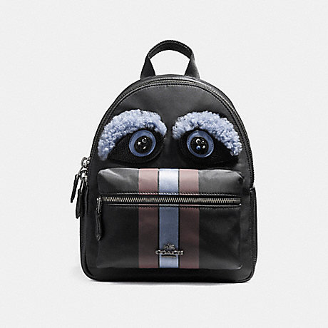 COACH f22894 MINI CHARLIE BACKPACK ANTIQUE NICKEL/BLACK