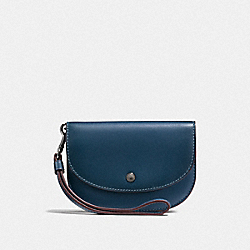 DOUBLE POUCH IN COLORBLOCK - DK/DENIM PRIMROSE - COACH F22937