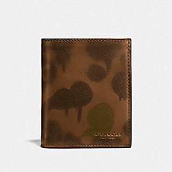 SLIM COIN WALLET WITH WILD BEAST PRINT - SURPLUS - COACH F22954