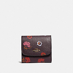 COACH SMALL WALLET WITH PRIMROSE FLORAL PRINT - IMFCG - F22969