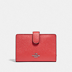 MEDIUM CORNER ZIP WALLET WITH FRUIT PRINT - SILVER/WATERMELON - COACH F22977