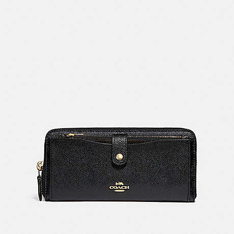 COACH MULTIFUNCTION WALLET - BLACK/LIGHT GOLD - F22997