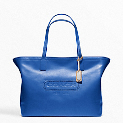 COACH WEEKEND LEATHER MEDIUM ZIP TOP TOTE - ONE COLOR - F23105