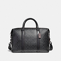 VOYAGER BAG IN SIGNATURE CANVAS - BLACK/BLACK/OXBLOOD/MATTE BLACK - COACH F23207
