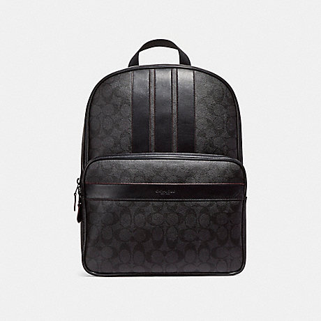 COACH f23210 BOND BACKPACK MATTE BLACK/BLACK/BLACK/OXBLOOD
