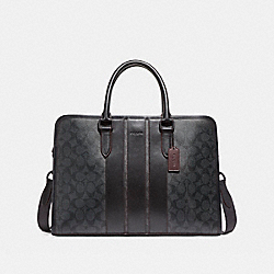 COACH BOND BRIEF - MATTE BLACK/BLACK/BLACK/OXBLOOD - F23212