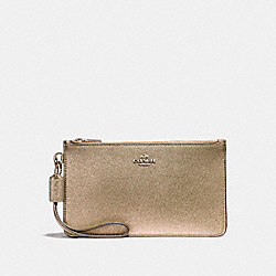 COACH CROSBY CLUTCH - LIGHT GOLD/PLATINUM - F23223