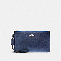 COACH CROSBY CLUTCH - SILVER/METALLIC NAVY - F23223