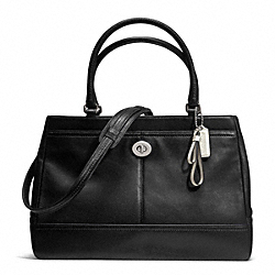 COACH PARK LEATHER LARGE CARRYALL - SILVER/BLACK - F23268