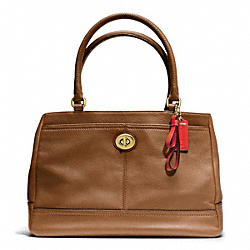 COACH PARK LEATHER CARRYALL - BRASS/BRITISH TAN - F23280