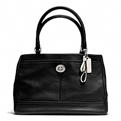 COACH PARK LEATHER CARRYALL - SILVER/BLACK - F23280