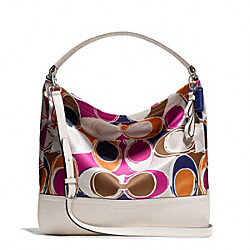 COACH PARK HAND DRAWN SCARF PRINT HOBO - ONE COLOR - F23282