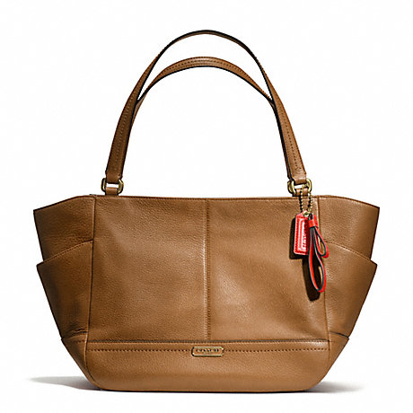 COACH f23284 PARK LEATHER CARRIE BRASS/BRITISH TAN