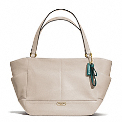 COACH PARK LEATHER CARRIE - BRASS/STONE - F23284