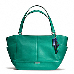 COACH PARK LEATHER CARRIE - SILVER/BRIGHT JADE - F23284