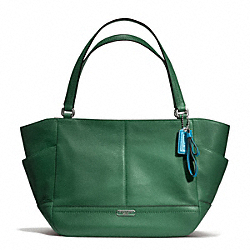 PARK LEATHER CARRIE TOTE - f23284 - SILVER/IVY