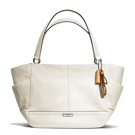 COACH F23284 PARK LEATHER CARRIE SILVER/PARCHMENT