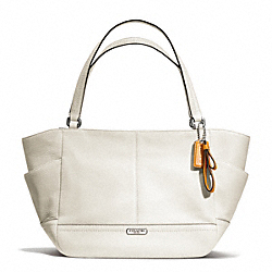 COACH PARK LEATHER CARRIE - SILVER/PARCHMENT - F23284