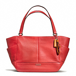 COACH PARK LEATHER CARRIE - SILVER/VERMILLION - F23284