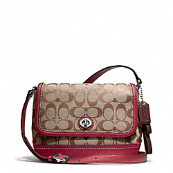 COACH PARK SIGNATURE VIOLET CROSSBODY - ONE COLOR - F23286
