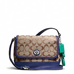 COACH PARK SIGNATURE VIOLET - SILVER/KHAKI/FRENCH BLUE - F23286
