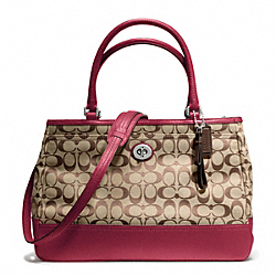 COACH PARK SIGNATURE LARGE CARRYALL - ONE COLOR - F23292