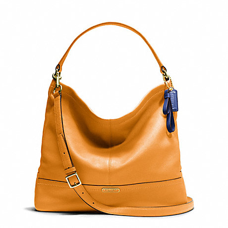 COACH f23293 PARK LEATHER HOBO BRASS/ORANGE SPICE