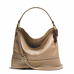 COACH PARK LEATHER HOBO - BRASS/SAND - F23293