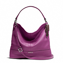 COACH PARK LEATHER HOBO - SILVER/AMETHYST - F23293