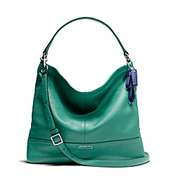 COACH PARK LEATHER HOBO - SILVER/BRIGHT JADE - F23293