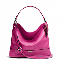 COACH PARK LEATHER HOBO - SILVER/BRIGHT MAGENTA - F23293