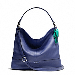 COACH PARK LEATHER HOBO - SILVER/FRENCH BLUE - F23293