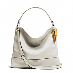 COACH PARK LEATHER HOBO - SILVER/PARCHMENT - F23293