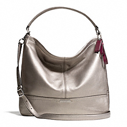 COACH PARK LEATHER HOBO - SILVER/PEWTER - F23293