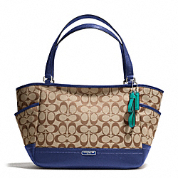 COACH PARK SIGNATURE CARRIE - SILVER/KHAKI/FRENCH BLUE - F23297
