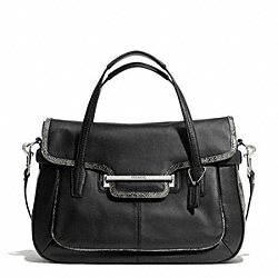 COACH TAYLOR MIXED LEATHER MARIN FLAP SATCHEL - ONE COLOR - F23301